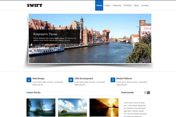 Swift - Responsive HTML5 Template