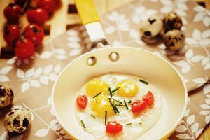 Fresh Breakfast with fried eggs