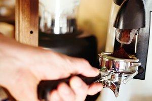 Professional coffee mill machine