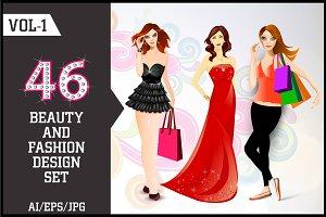 Beauty & Fashion Design Set Vol - 1