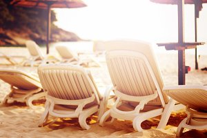 Beach relaxation concept