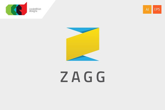 zagg letter z logo template logo templates on creative market. Black Bedroom Furniture Sets. Home Design Ideas