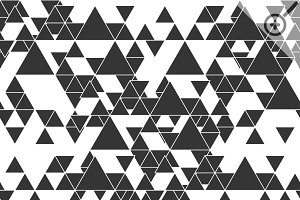 Triangular seamless vector patterns