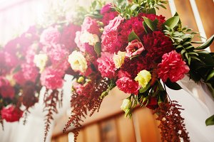 Flower decoration in wedding day