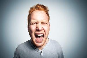 Redhead studio portrait