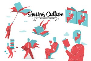 Sharing Culture - Vector Collection