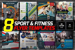 8-in-1 Sport & Fitness Flyers Bundle