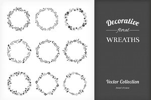 9 Floral Wreaths