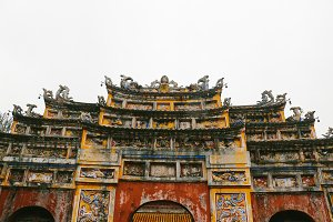 ancient gate in hue imperial city