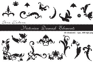 Victorian Damask Elements