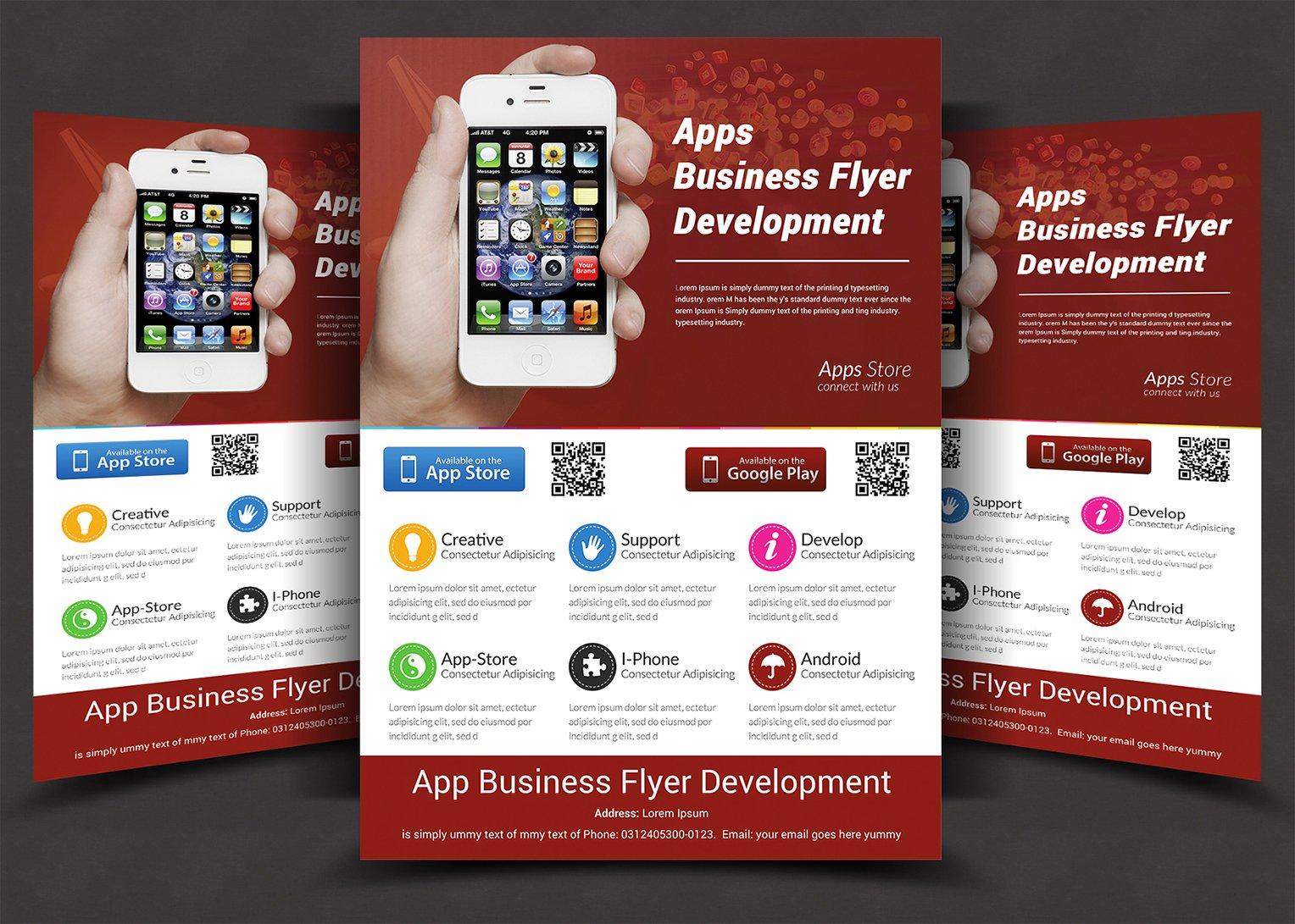app flyers flyer templates creative market