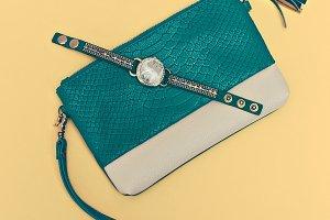 Green Clutch Fashion