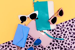 Set Fashion Sunglasses and Clutch