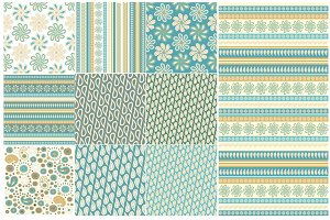Set of 10 decorative backgrounds