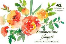 Summertime Bouquets - Watercolor Flo