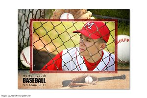 Baseball Memory Mate Template - T1