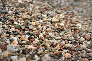 Colorful beach pebbles background