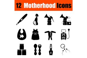 Set of motherhood icons