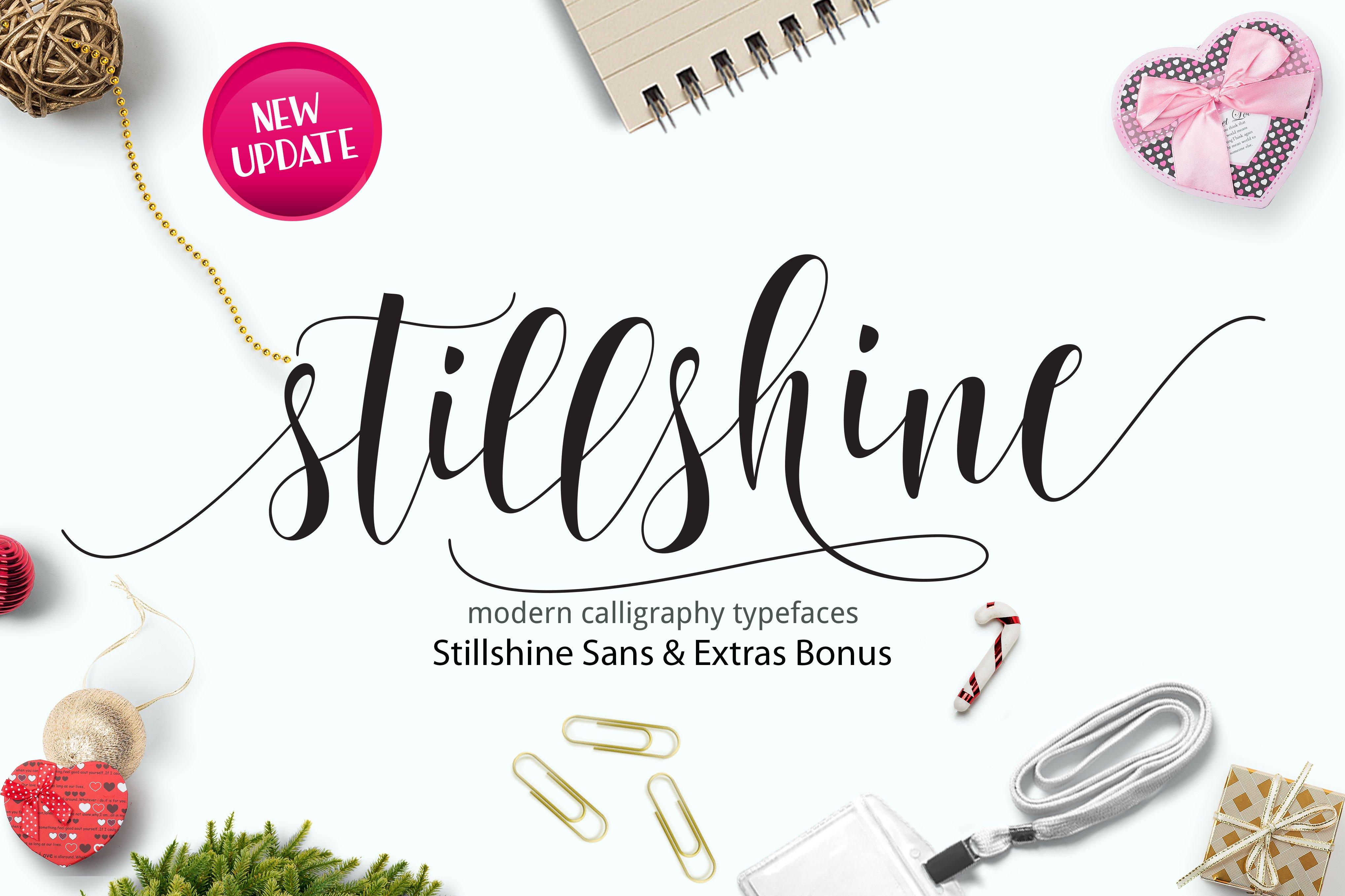 Still Shine Script Fonts Creative Market