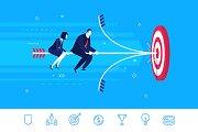 Hit the target. Teamwork (+7 icons)