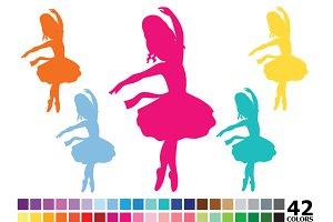 Rainbow Silhouette Ballerinas