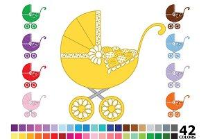 Rainbow Baby Stroller