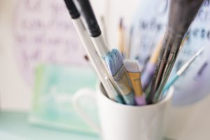 Paint Brushes in Mug 3
