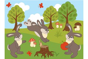 Woodland Rabbits