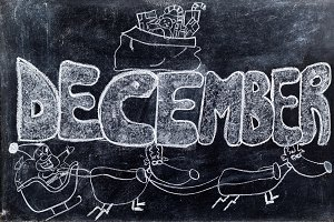 December handwritten on Blackboard
