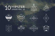 10 Hipster Logos Vol. 12