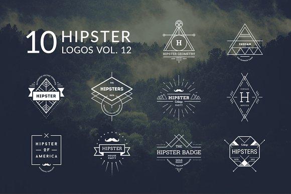 10 Hipster Logos Vol. 12 - Logos