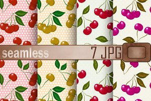 Paper pack with cherry backgrounds