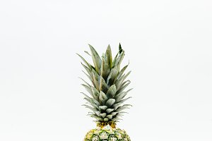 Partial Pineapple on White