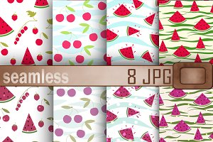 SALE Paper Berries Watermelon Cherry