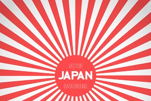 Japan Flag Vector Background