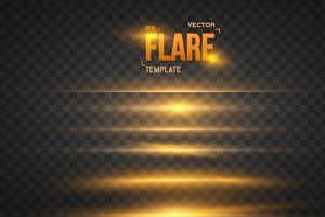 Vector Overlay Lens Flare Ray Effect