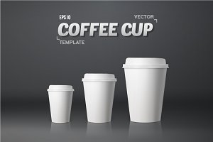 Vector Coffee Cup Set