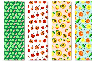 Seamless Patterns with Fruits