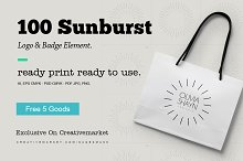 sunburst logo & badge element