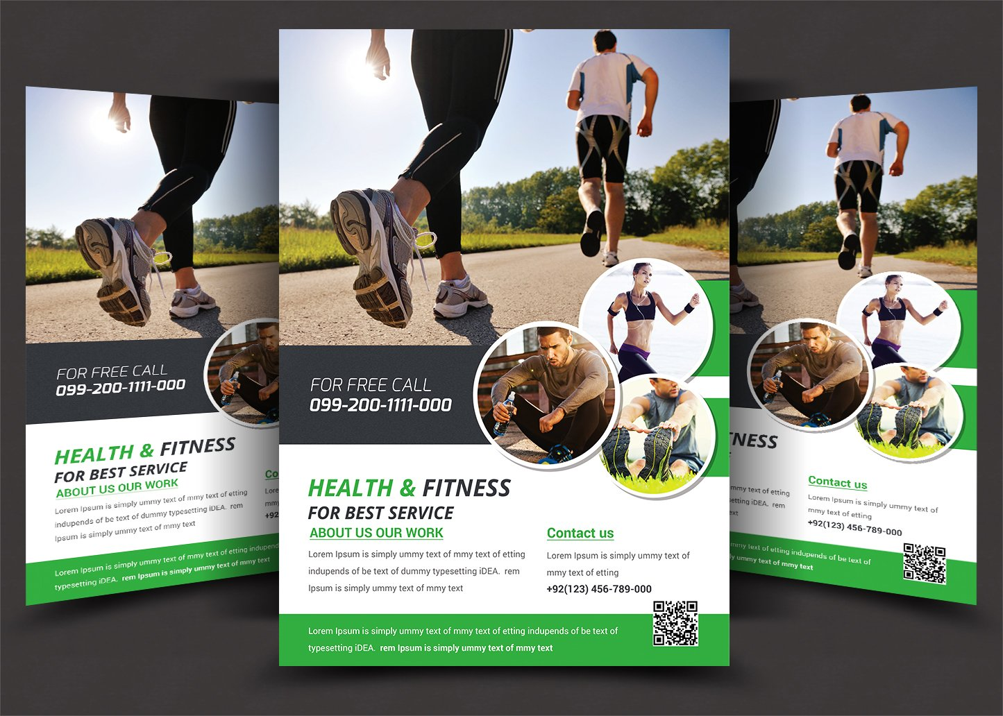 Fitness flyer gym flyer flyer templates creative market for Free gym layout design