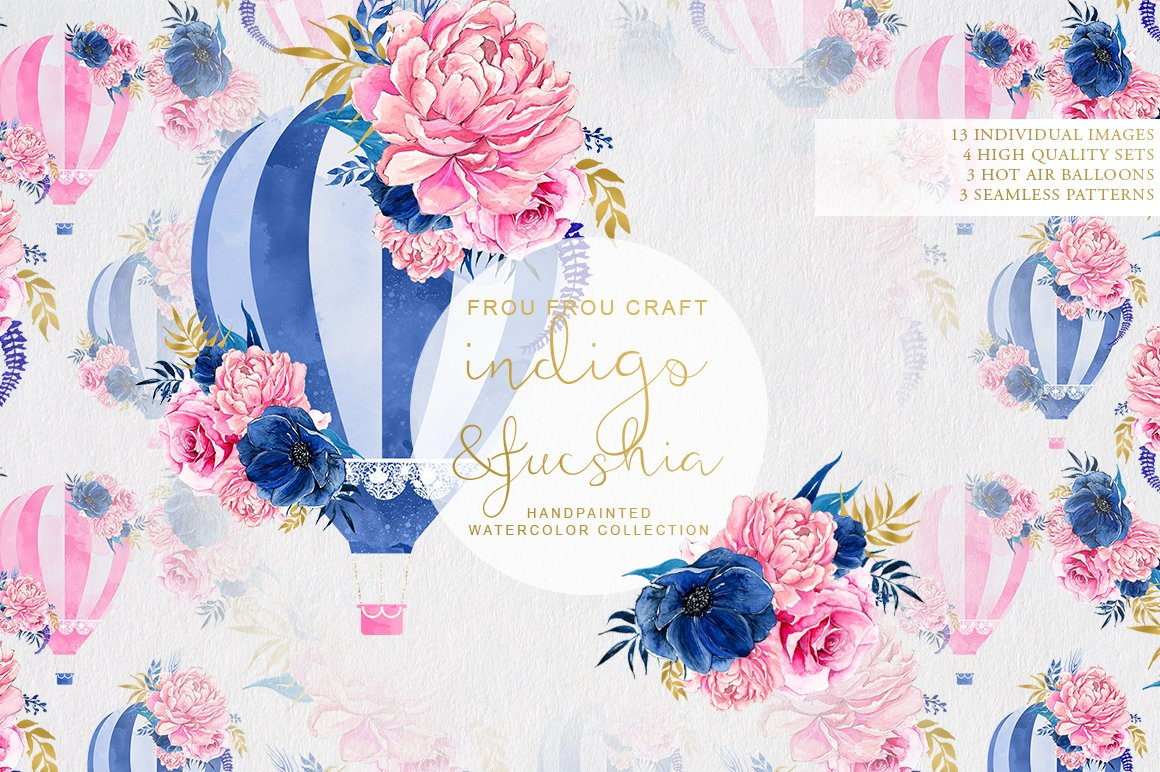 Indigo And Fucshia Illustrations Creative Market