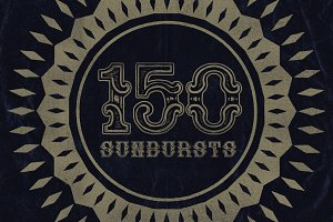 150 Retro Sunbursts