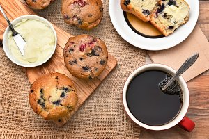Muffins Coffee and Butter