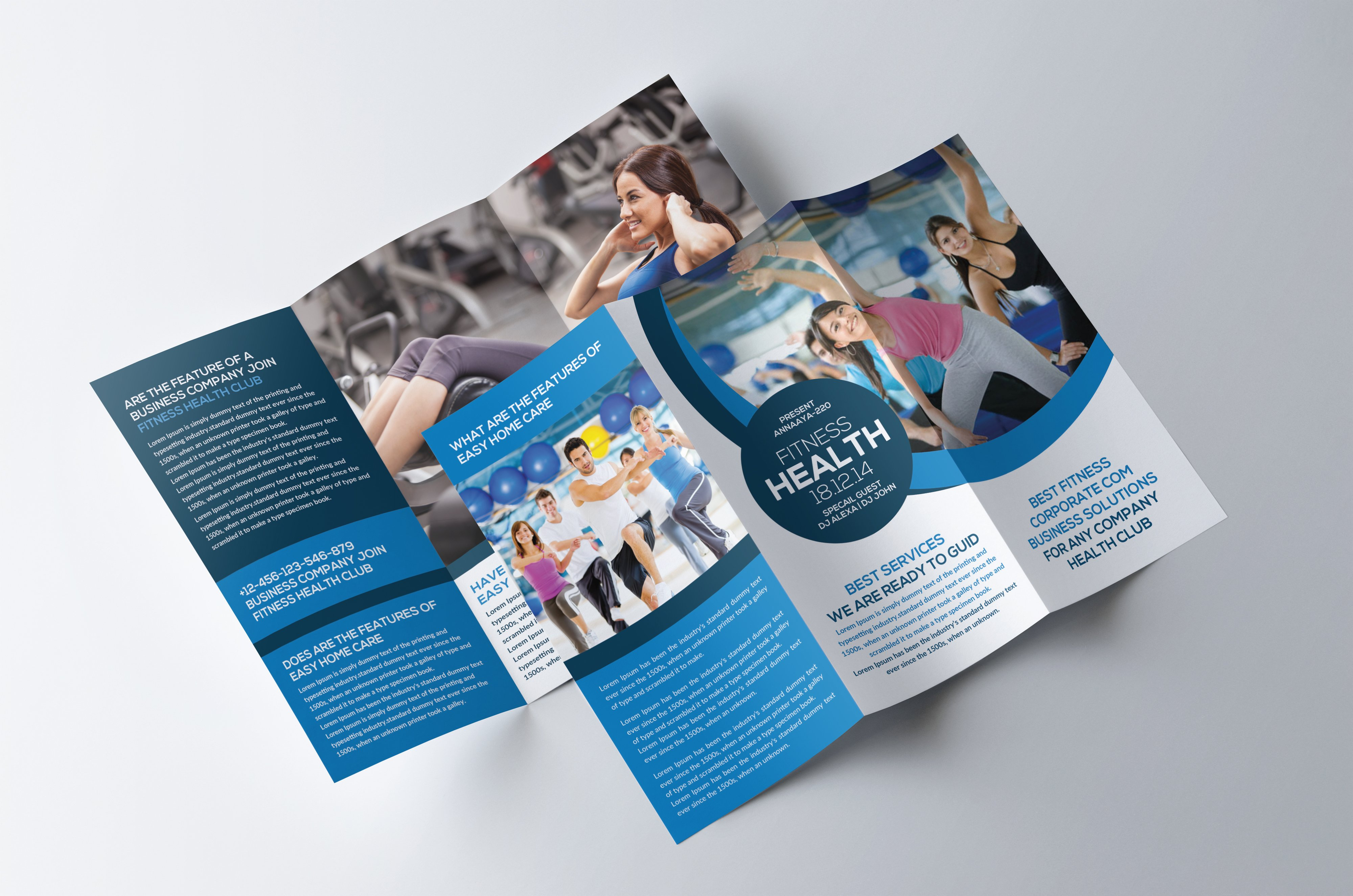 Fitness and Gym TriFold Brochure Brochure Templates Creative – Tri Fold Brochure