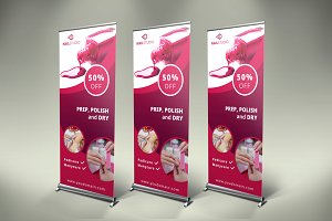 Nails Roll-Up Banner - SB