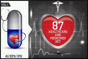 Healthcare & Medicines Set Vol - 1
