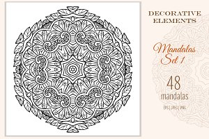48 Decorative Mandalas