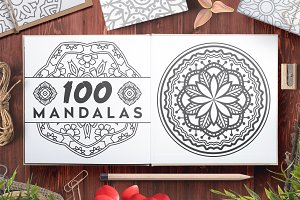 100 Vector Mandala Ornaments