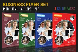 Business Flyer Set 4 Color Variation