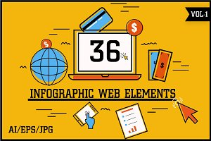 Infographic Web Elements Vol - 1